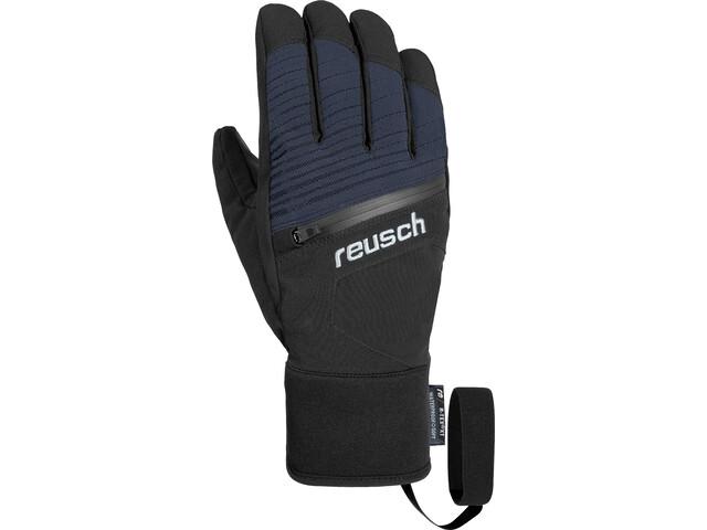 Reusch Theo R-TEX XT Gants, black melange/safety yellow/brilliant blue